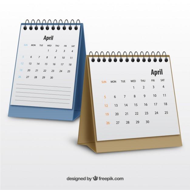 Czterodzielne kalendarze do biur i pomieszczeń gospodarczych.